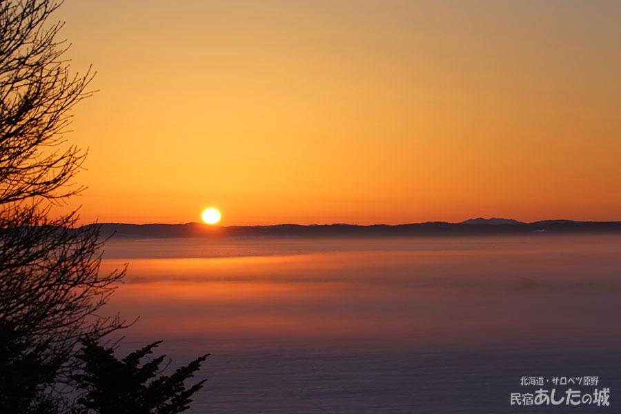サロベツ原野の夜明け