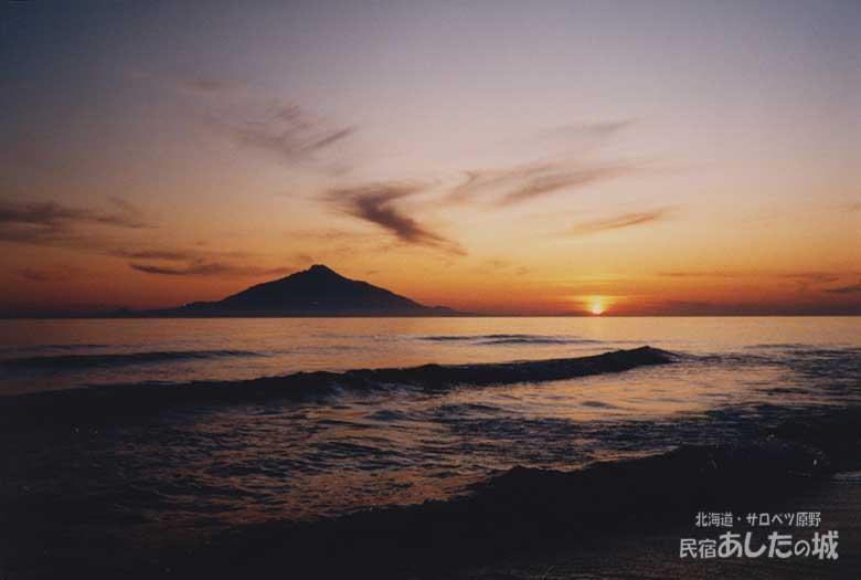 1984年6月21日初めて撮ったサロベツの夕焼け