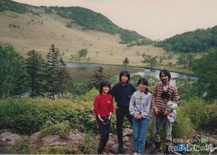 泊まり合わせた旅人と東雲湖へ