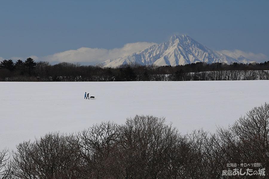 雪原を歩く(2014年3月23日)