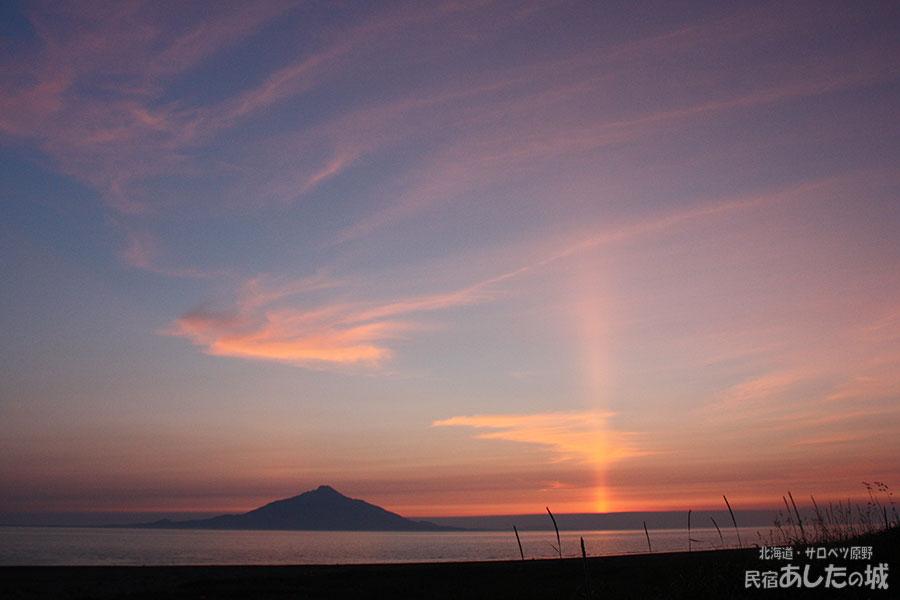 2012年6月26日の夕焼けとサンピラー