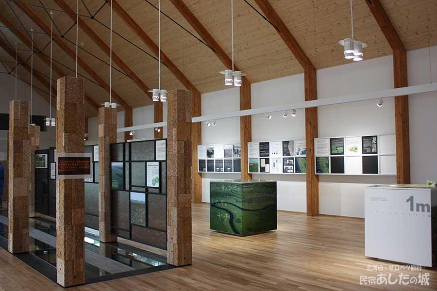 サロベツ湿原センターの展示スペース