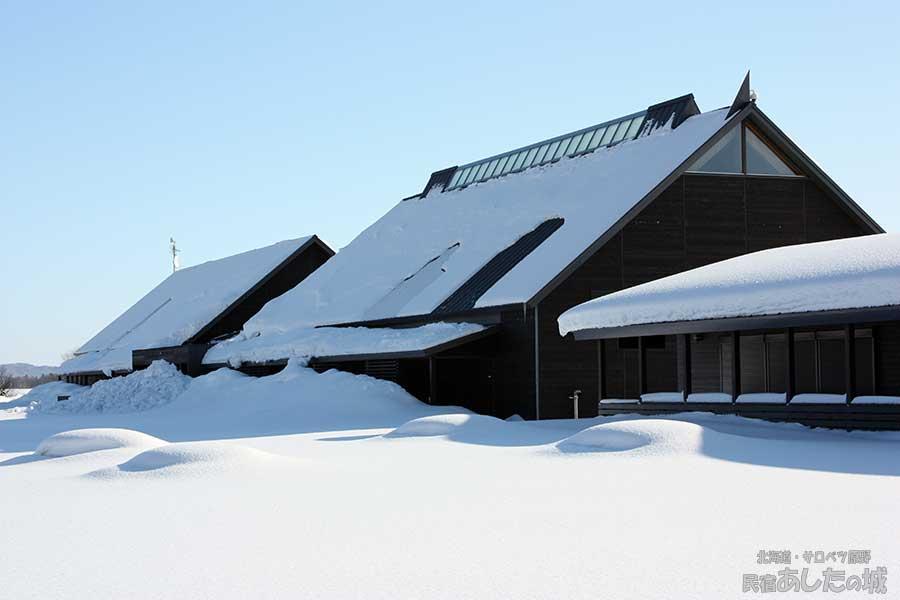 冬のサロベツ湿原センター