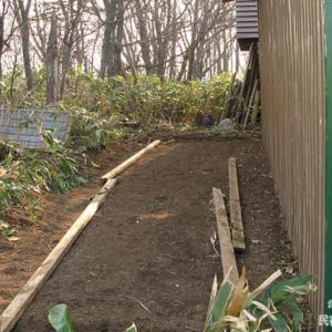 13裏側へ増築 | 廃材で作る物置小屋