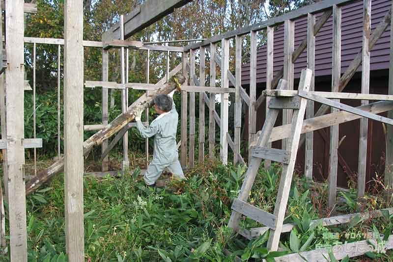 小屋づくり再開の準備