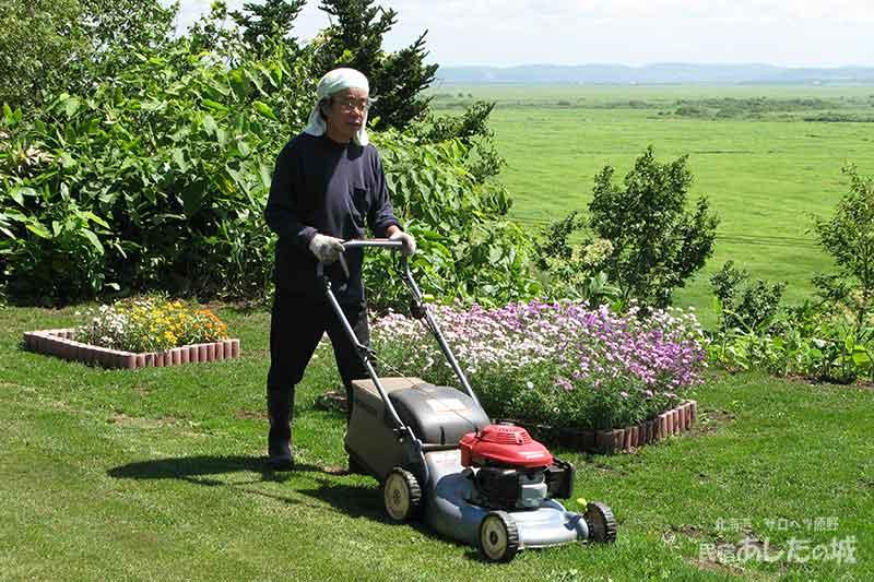 芝刈りの様子