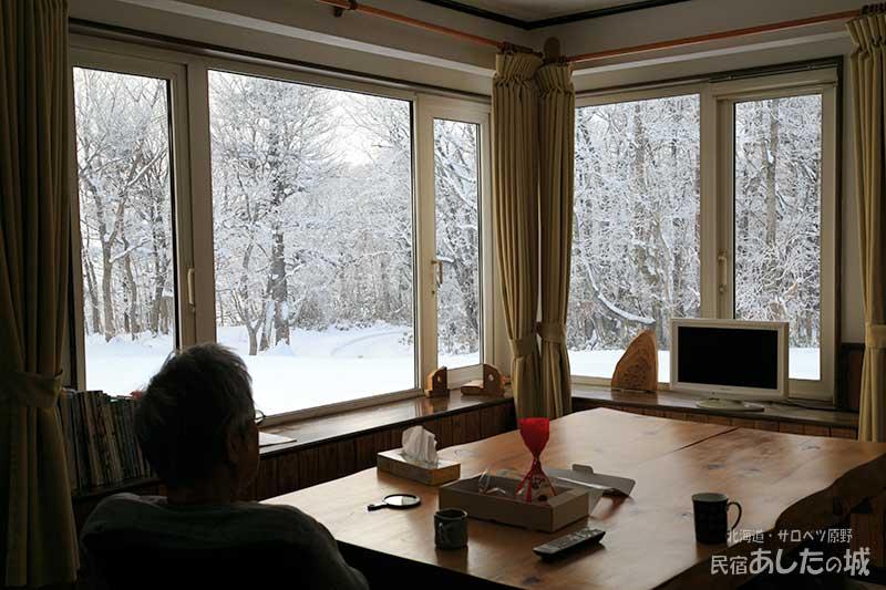 部屋から見る樹氷