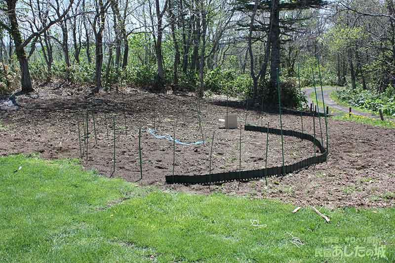 ガーデンエッジを置く