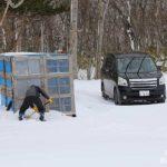 除雪機小屋の前を除雪!