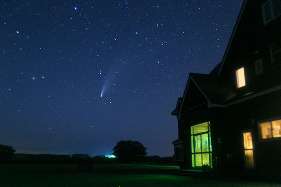 ネオワイズ彗星@サロベツ