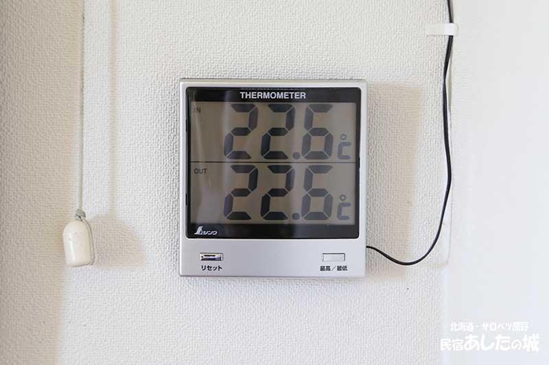 外と中と同じ気温!