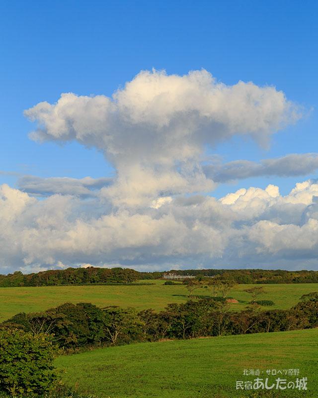 キノコ雲のような雲!