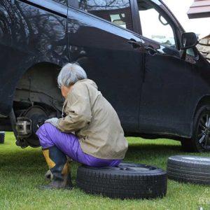 冬タイヤに交換