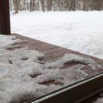 雪がかなり溶けた