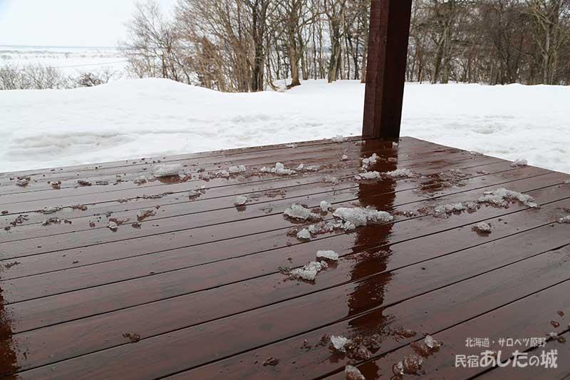 さらに雪が溶けた