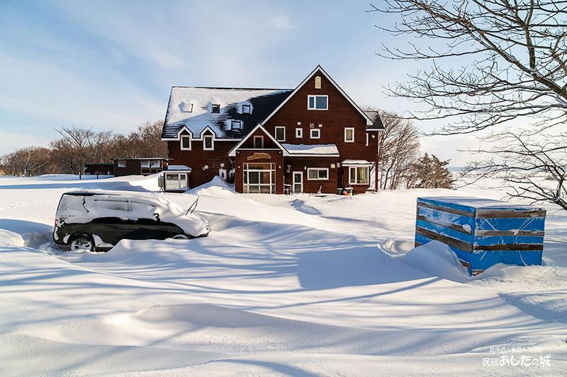 3時間かけて除雪しました