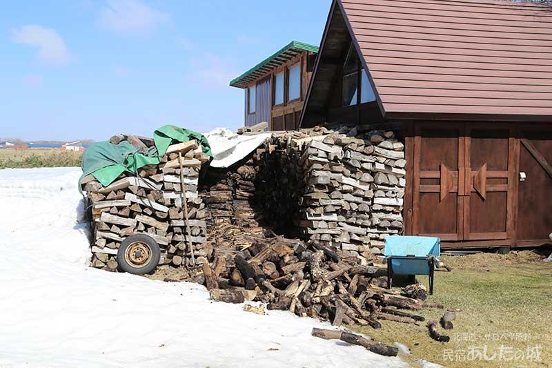 3月31日の薪置き場