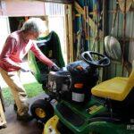 乗用芝刈り機のメンテ