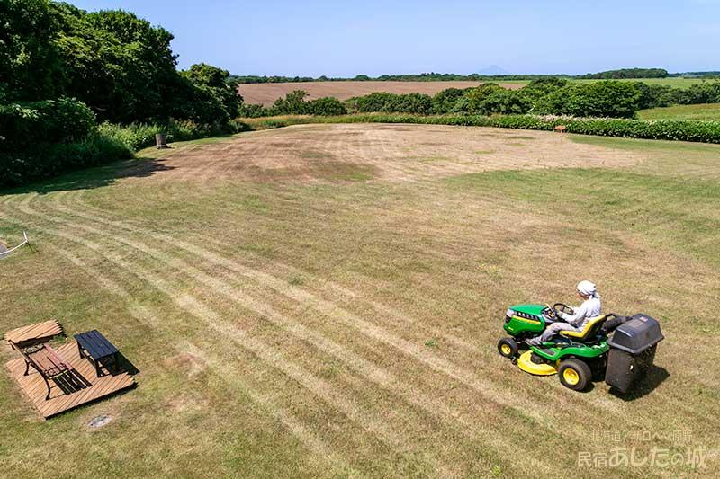 週に2回のはずが月2回目の芝刈り